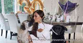 Real Housewives star celebrates 30th birthday in lockdown with her rescue dogs