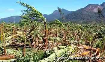 Prefeito de Guaratuba confere estragos do ciclone na área rural - Correio do Litoral