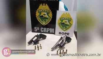 BOPE/CHOQUE apreende duas armas de fogo em Missal - Guia Medianeira