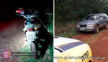 Ramilândia: PM recupera caminhonete e motocicleta que haviam sido roubadas - Guia Medianeira