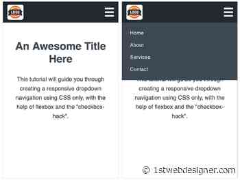 How To Create a Responsive Dropdown Navigation Using Only CSS