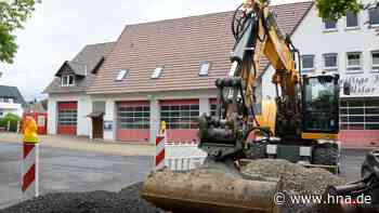 Gefälle vor dem Feuerwehrhaus in Uslar wird ausgeglichen - HNA.de