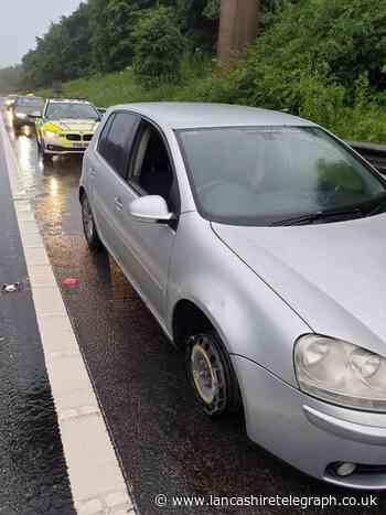'Drug driver' drove for 19 miles on M65 with three wheels