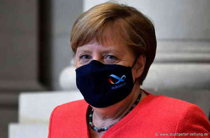 Angela Merkel - Kanzlerin zeigt sich erstmals offiziell mit Corona-Maske - Stuttgarter Zeitung
