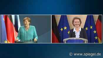 """Merkel und von der Leyen als EU-Doppelspitze: """"Nicht wahr, Ursula?"""" - DER SPIEGEL"""