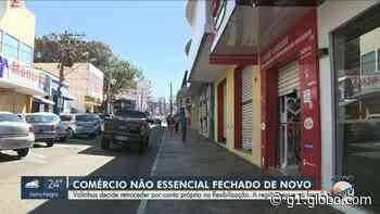Coronavírus: Valinhos volta a fechar comércios e lojistas respeitam medida no 1º dia da mudança - G1