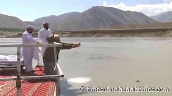 Watch: PM Modi performs Sindhu Darshan puja at Nimu forward brigade place in Ladakh