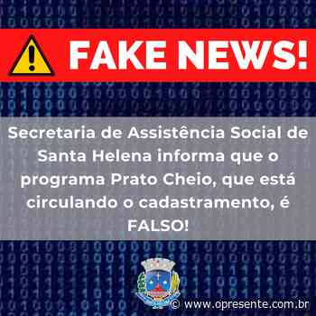 """Programa social """"fake"""" tem sido oferecido a famílias de Santa Helena - O Presente"""