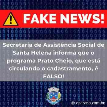 Programa social 'fake' tem sido oferecido a famílias de Santa Helena - O Paraná