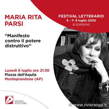 Piceno d'Autore, si parte il 6 luglio a Monteprandone con Maria Rita Parsi - Riviera Oggi