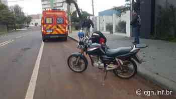 Motorista provoca acidente na Rua Antonina e foge sem prestar socorro à casal que estava em uma motocicleta - CGN