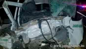 Tres trabajadores en salud mueren en accidente en el tramo Patacamaya-Tambo Quemado - Opinión Bolivia