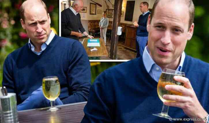 Prince William teases landlord as he beats punters for a pint - 'I don't know where I pay' - Express