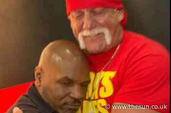 WWE icon Hulk Hogan shares sweet throwback shot hugging Mike Tyson years 'before sport world had us going at e - The Sun