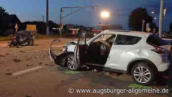 Auto überschlägt sich bei Unfall auf der Schretzheimer Kreuzung - Augsburger Allgemeine