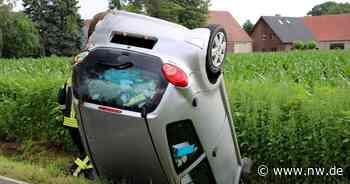 Auto landet auf dem Dach: Fahrerin (22) wird verletzt - Neue Westfälische