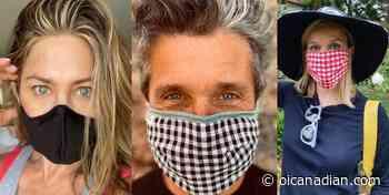 Jennifer aniston and Patrick Dempsey mask, #WearaDamnMask - OI Canadian