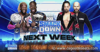 WWE books the card for SmackDown next week, including a title match - Cageside Seats
