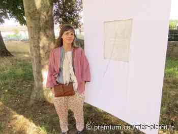 Sophie Lebot brode pour l'Art en chemin à Verberie - Courrier picard