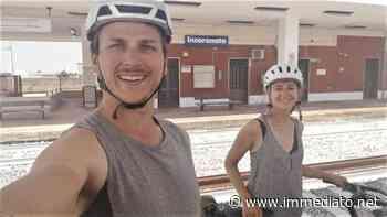 """Dalla Francia in bici, Theo ed Elsa fanno tappa a Foggia. Ospitati all'Incoronata dai """"cicloamici"""" - l'Immediato"""
