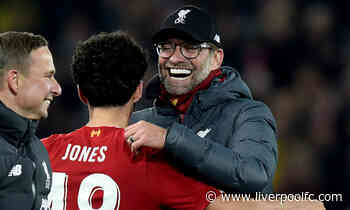 Jürgen Klopp: Curtis' new contract is a reward for his development