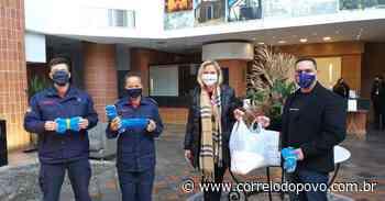 Rede de hotéis doa máscaras ao Corpo de Bombeiros de Novo Hamburgo - Jornal Correio do Povo