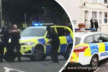 Armed police called to Portland Road, Hove as man is held