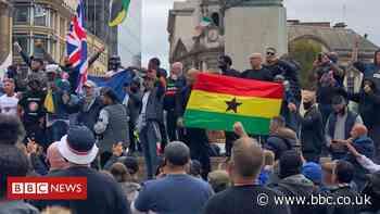 Birmingham City fans march 'to speak against racism'