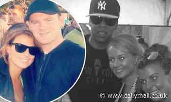 Coleen Rooney cuddles up to Jay Z in epic Glastonbury throwbacks - Daily Mail