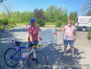 Cyclist dashes from Brockville to Cornwall for OSPCA fundraiser - Standard Freeholder