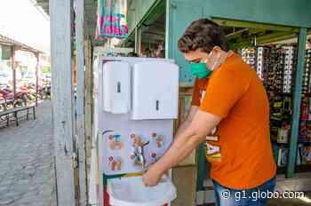 Prefeitura de Serra Talhada instala lavatórios públicos nas ruas - G1