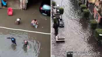 VIDEO E FOTO. Maltempo in Campania: a Napoli non piove ma in Provincia strade allagate - Vesuvio Live