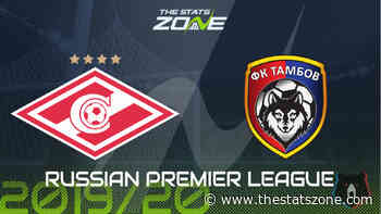 2019-20 Russian Premier League – Spartak Moscow vs Tambov Preview & Prediction - The Stats Zone
