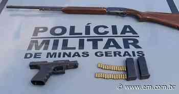 PM apreende sete armas e 36 munições em operação em Papagaios - Estado de Minas