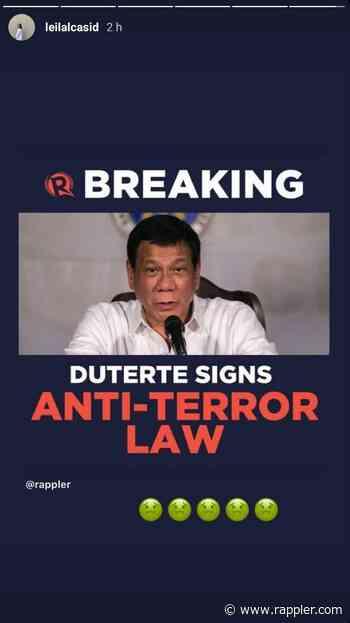 'Dear Duterte, may paki ka ba sa amin?': Celebrities, artists react to anti-terror law - Rappler
