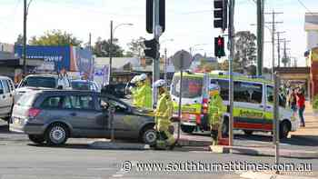 VISION: Car smashes into ambulance in Kingaroy - South Burnett Times
