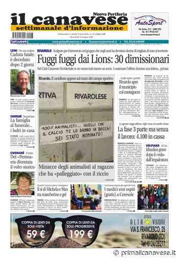 Il Canavese – edizione Rivarolo (del 10 giugno) in edicola. Ecco la prima pagina - Il Canavese
