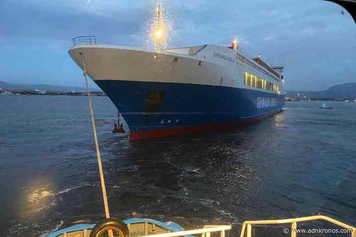 Olbia, nave cargo Grimaldi incagliata all'ingresso del porto - Adnkronos