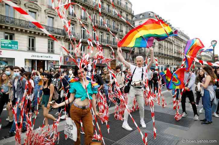 LGBT Pride activists protest in Paris against racial injustice