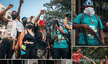 Armed Black Lives Matter activists and right-wing groups unite at gun rights rally