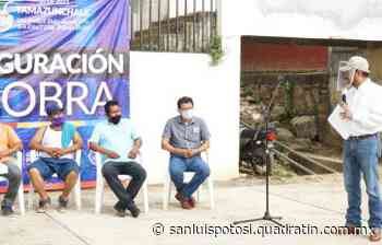Alcalde de Tamazunchale entrega obras en varias localidades - Quadratín - Quadratín San Luis