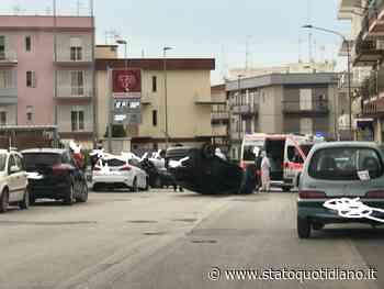Manfredonia, incidente in via Florio: auto si ribalta: 1 ferito (FOTO-V) - StatoQuotidiano.it