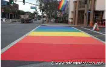 Rainbow crosswalk will greet students in Port Elgin this fall - Shoreline Beacon
