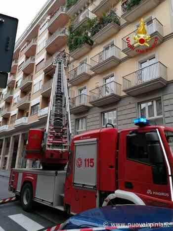 Caduta di calcinacci in via Mancini ad Avellino, intervento dei Vigili del Fuoco - Nuova Irpinia