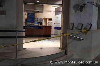 Paysandú: Delincuentes intentaron robar el cajero automático del BROU de Guichón - Montevideo Portal