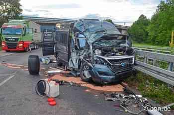 Betrunkener Lastwagenfahrer rammt Wohnmobil auf der L605 bei Ettlingen - BNN - Badische Neueste Nachrichten