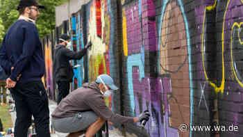 Graffiti-Aktion bei WDI in Hamm - mit Video und Fotogalerie - Westfälischer Anzeiger