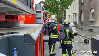 Wohnungsbrand an der Viktoriastraße Hamm-Westen- Feuerwehr im Einsatz - wa.de