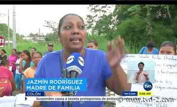 Provincias Padres de familia de Santa Rita Arriba de Colón protestan por mal estado del plantel - TVN Panamá