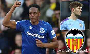 Everton centre back Yerry Mina 'a shock £15m target for Valencia'